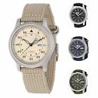 Seiko 5 Men's Automatic Stainless Steel Watch with Canvas Strap