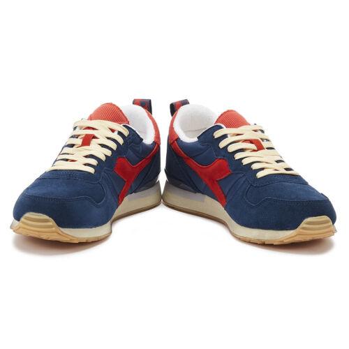 Diadora Camaro Homme Denim//Rouge Baskets à Lacets Sport Chaussures De Loisirs