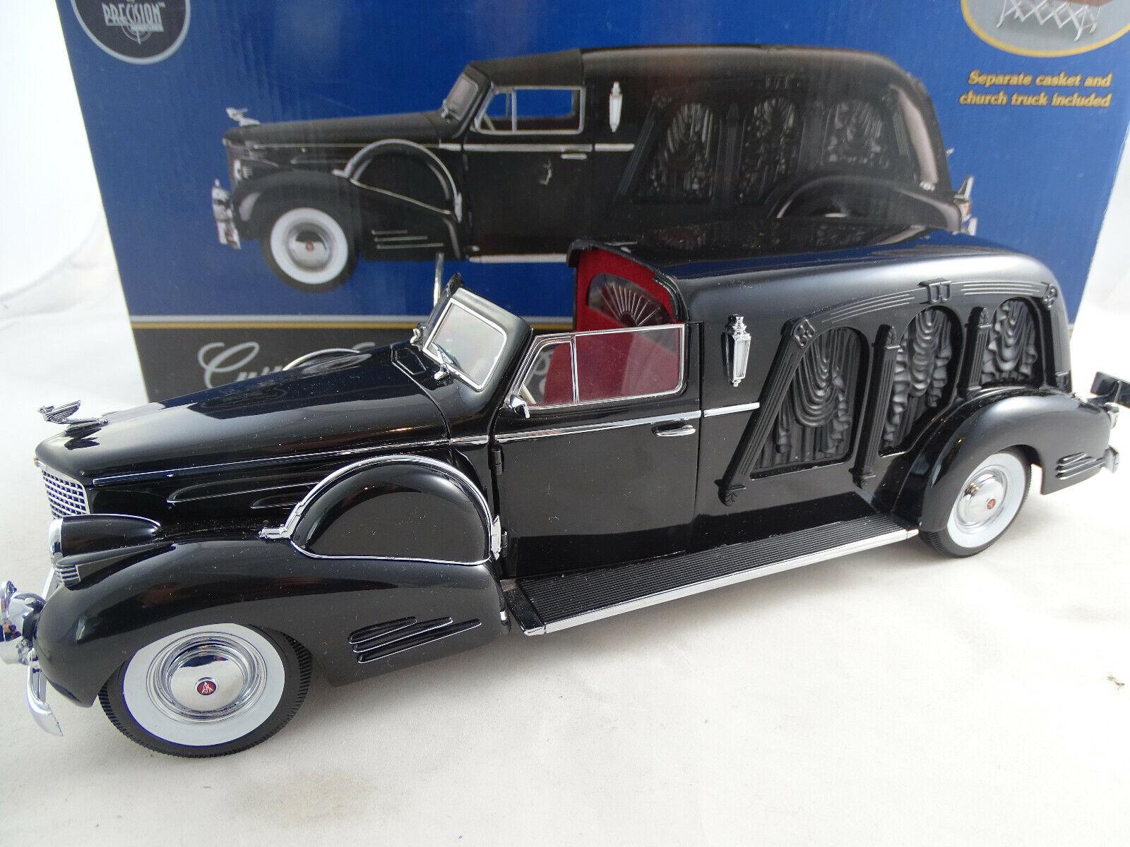 1 18 PrecisionMin. PMSC-05B 1938 Cadillac Town Car Leichenwagen Landau Hearse