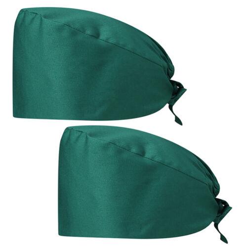 4pcs Scrub Cap Printed Bouffant Turban Cap Adjustable Hair Cover for Women Men