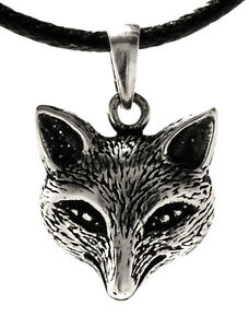 Butterfly Backs Chains pendant From 925 Sterling Silver Fox fuchs Head