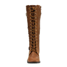 6d6e0678c638 item 7 Women-Knee-High-Lace-Up   Quilted- Military-Combat-Boots-Riding-Style-Zipper  - Women-Knee-High-Lace-Up   Quilted- Military-Combat-Boots-Riding-Style- ...