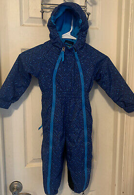 NEW REI TIMBER MOUNTAIN SNOW SUIT BUNTING FLEECE LINED 2 ZIPPERS BOY/'S 12 MONTHS