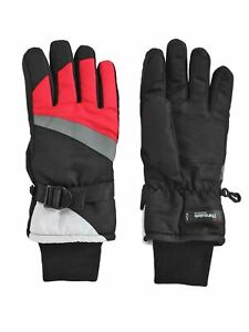 Aquarius-Big-Girls-Thinsulate-Reflective-Ski-Gloves-Black-amp-Pink-M-7-10