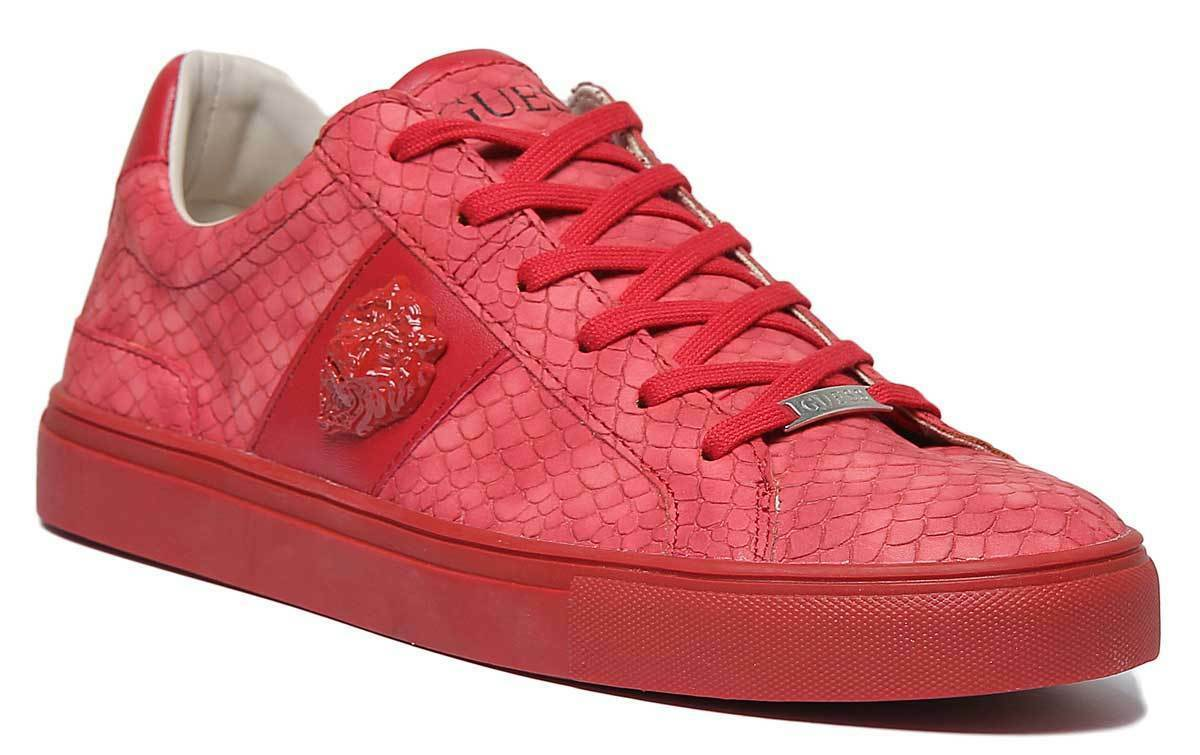 Guess Luiss Fm5Leopel12 Women Synthetic Leather Red Trainers UK Size 3 - 8