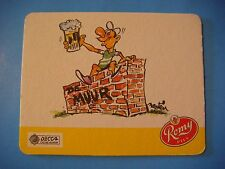 Beer Coaster ~*~ Roman Romy Pils Bier ~ Oudenaarde, Belgium ~ Drinking on a Wall
