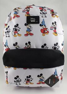 3d5f430494d VANS DISNEY OLD SKOOL BACKPACK MICKEY THROUGH THE AGES WHITE BLACK ...