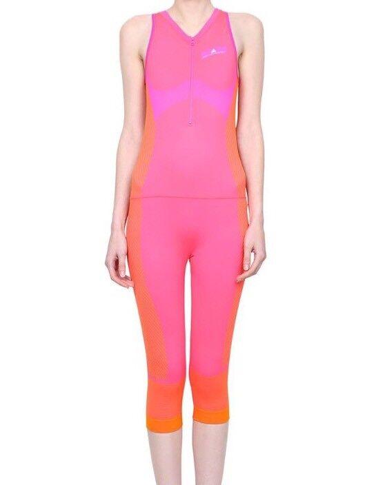 New Adidas Stella McCartney Women BQ3719 Yoga Jumpsuit Medium Pink Coral