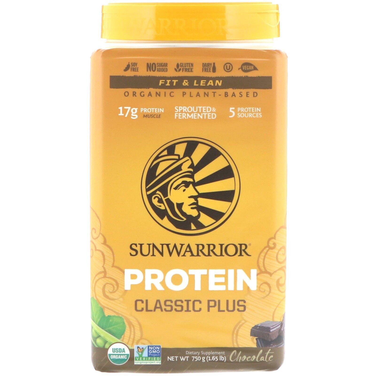 Sunwarrior Clásico Además de la Predeína Orgánico Vegano Germinados Fermentado,