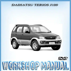 daihatsu terios j100 series workshop repair service manual in disc rh ebay com au Car Owners Manual Club Car Manual User