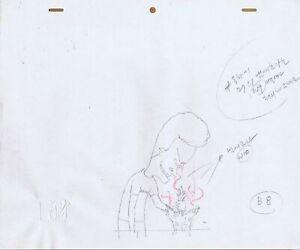 Beavis & Butt-head 1990's Production Cel Pencil Drawing P.A.T. Cat