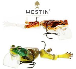 Westin-Kunstkoder-Freddy-die-Frosch-Wakebait-18-5cm-46g-Schwimmend-Zander-Hecht