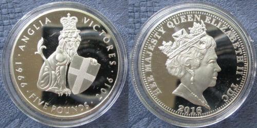 Tristan Da Cunha TDC £5 Pound Commemorative Coins,Base Metal /& Silver,BU /& Proof