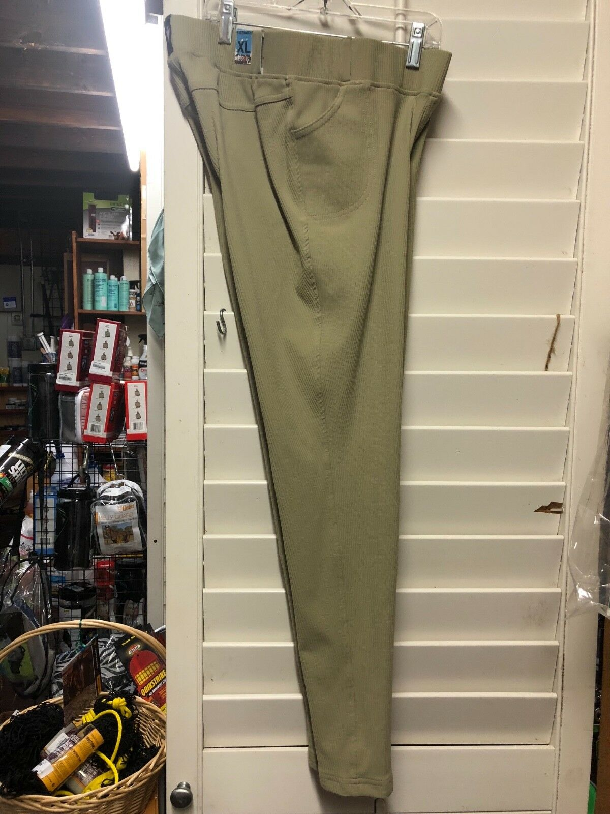 Calzas de mujer de equitación, costilla, bolsillo de canal kerrits Talla XL, bronceado con rodilla Navideñas