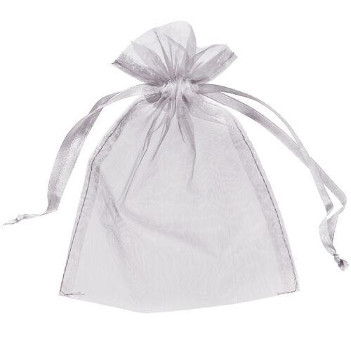 75 Organza Sacs Mariage Faveurs Pochettes Bijoux maille parti avec cordon de serrage Cadeau UK