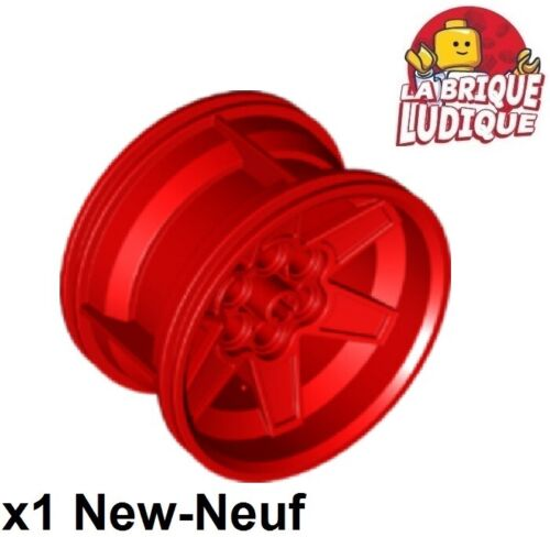 Lego 1x rim wheel tread 56mm D x 34mm racing med red//red 15038 new