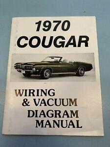 1970, 70 MERCURY COUGAR WIRING & VACUUM DIAGRAM MANUAL BY ...
