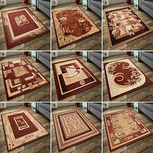 Das Bild Wird Geladen Teppich Kurzflor Teppiche Klassisch Moderne 200x300  300x400 Beige