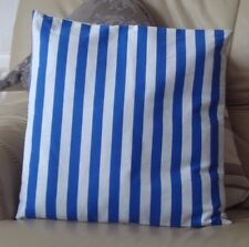 BLUE AND WHITE STRIPES DESIGN CUSHION COVER