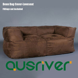 Fantastic Details About Luxury 2 Person Sofa Couch Bean Bag Cover Indoor Loveseat Lazy Seat Chair Brown Pabps2019 Chair Design Images Pabps2019Com