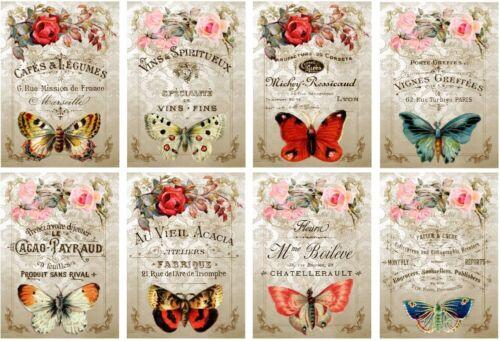 Decoupage-Bastelpapier-Softpapier-Vintage-Nostalgie-Schmetterling-12444