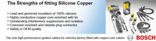 06.03 7J Bosch Câbles D/'allumage Allumage Ht Leads B331 VW Transporter T5 2.0