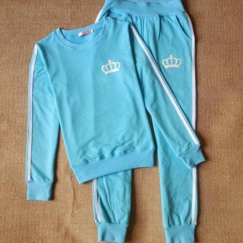 Women Sport Tracksuit 2pcs Set Sweatshirt Tops Jogger Pants Pullover Sweat Suits
