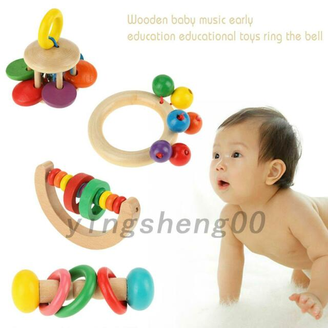 Bell Rattles Creative Color Random Musical Educational Toy Infant Children Baby