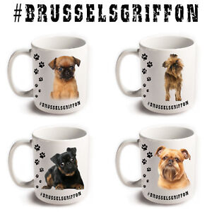 BRUSSELS GRIFFON Dog Breeds Hashtag Mugs Animal Funny Cute ...
