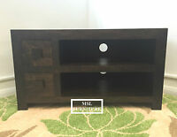 Solid Wood Walnut Small Widescreen Tv Lcd Plasma Cabinet Stand Unit Unit