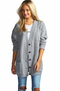 Cable-Knit-Chucky-Cardigan-in-Marl-Grey-RRP-29-99-in-the-style-of-Topshop