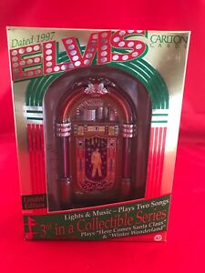 Heirloom Carlton Cards Elvis Lights And Music Jukebox ...