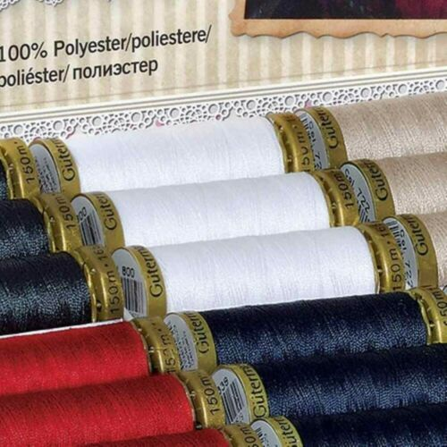 50/% EXTRA FREE Gutermann 100+50m Sew All Polyester Sewing Thread Hand or Machine