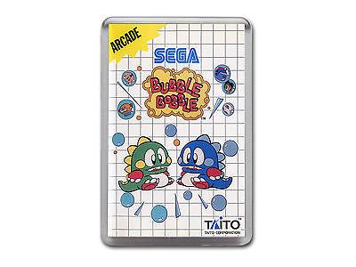 BUBBLE BOBBLE Sega Master System Cover Art Fridge Magnet