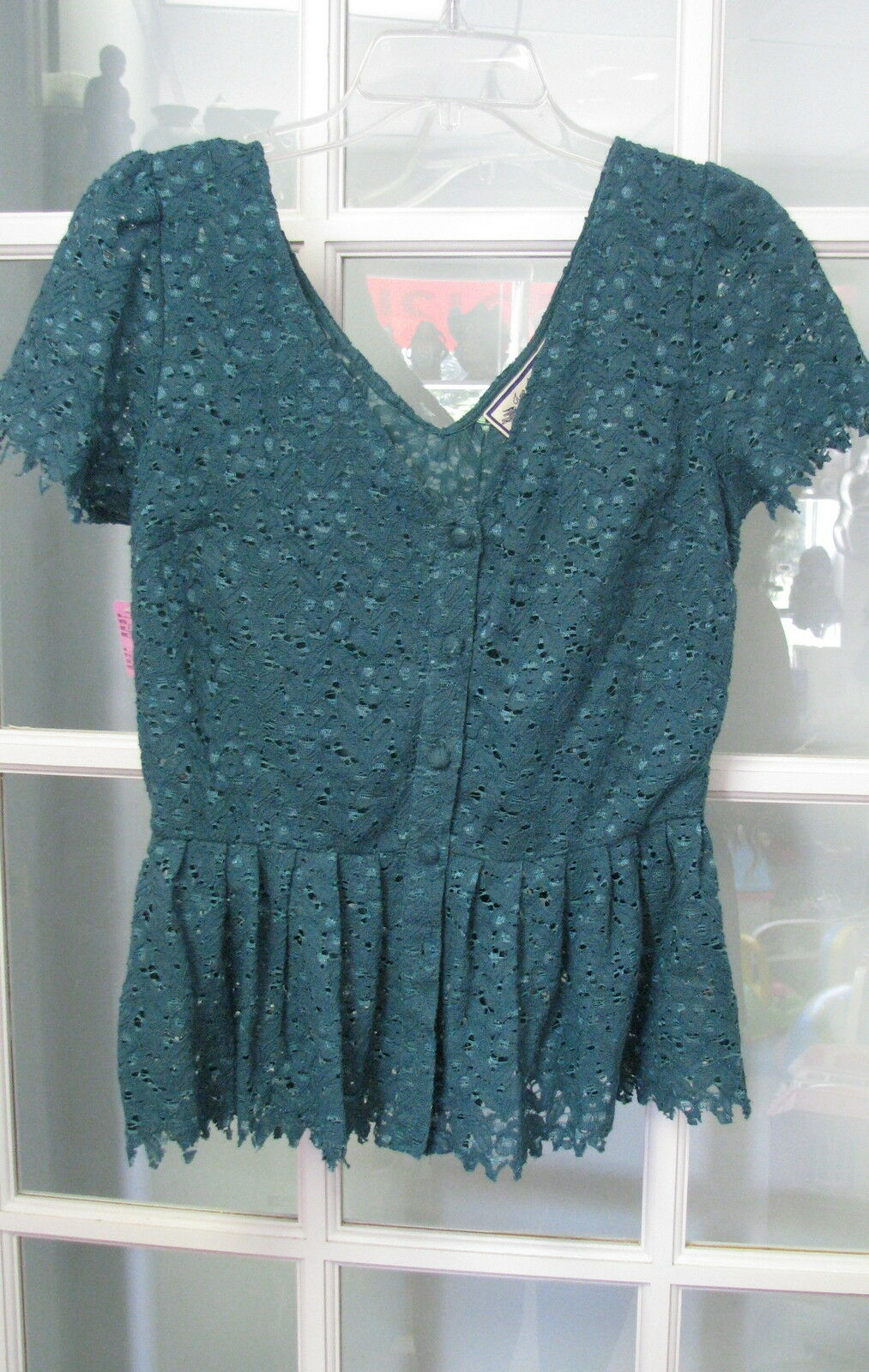 New with tag Grün shirt blouse top  Ladies Größe 4 dress Anthropologie Teal