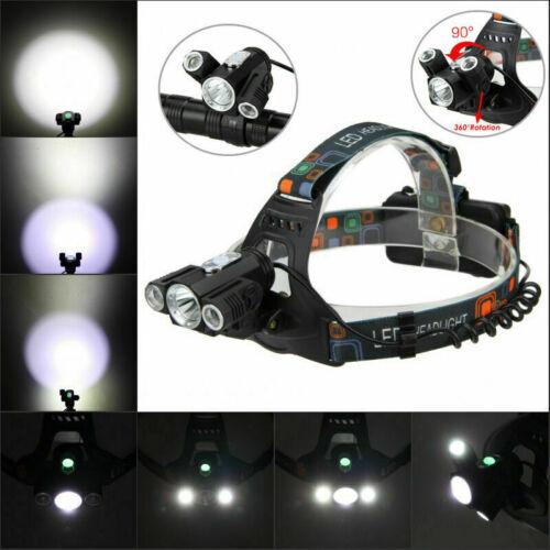 18000LM T6 LED Scheinwerfer wiederaufladbarer Taschenlampe Stirnlampe 4 Modi
