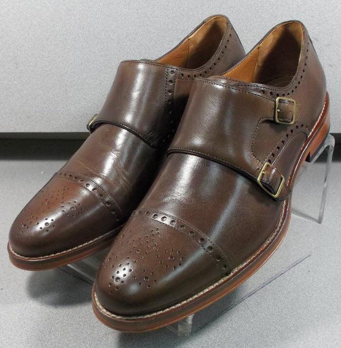 591040 ES50 Chaussures Hommes Taille 12 M en cuir marron Moine Boucle Johnston & Murphy