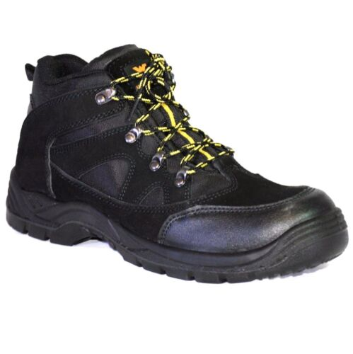 MENS Wyre Valley LEATHER STEEL TOE CAP SAFETY WORK TRAINERS SHOES BOOTS SZ 7-12