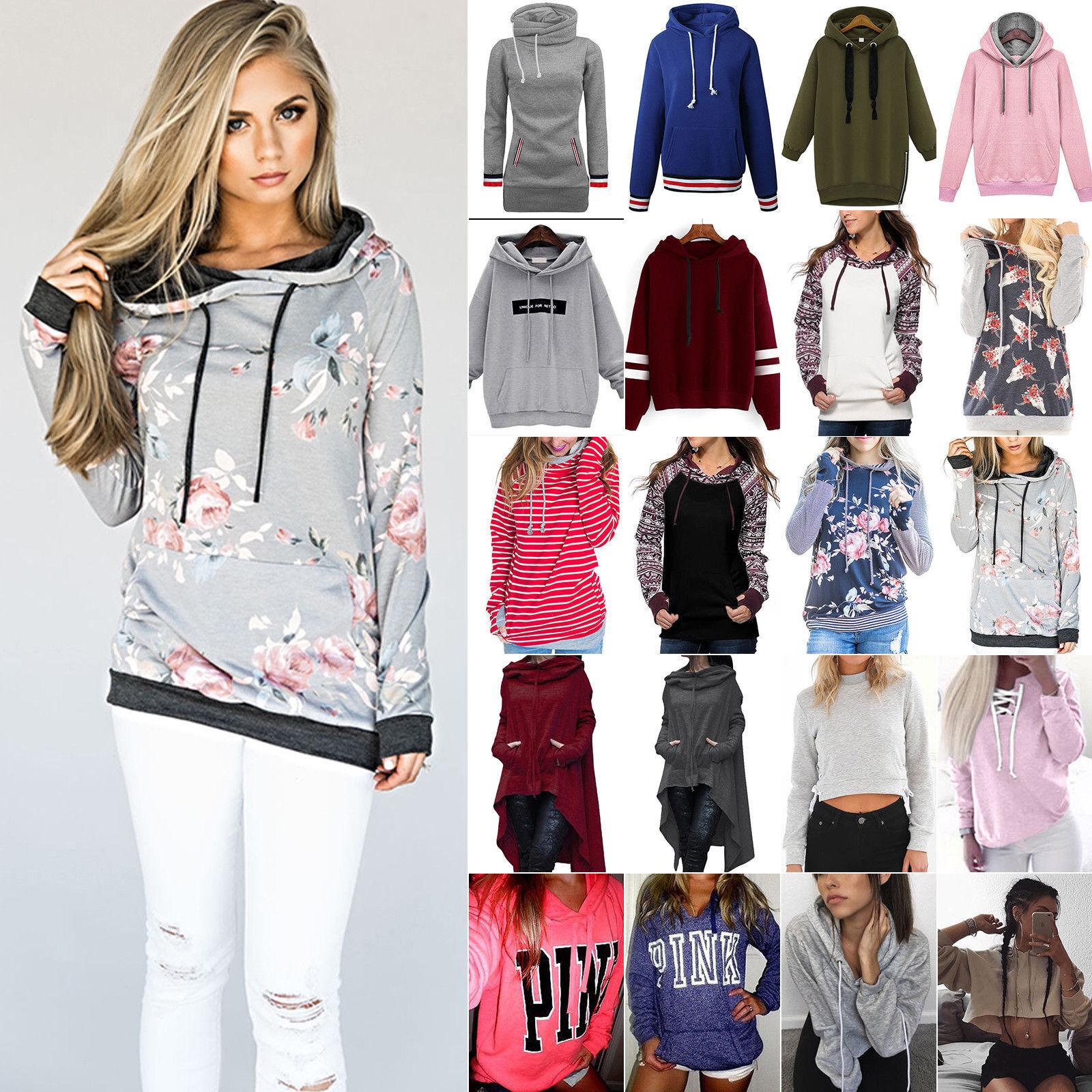Damen Kapuzen Pullover Mantel Pullover Langarmjacke Hoodies Sweatshirt Oberteil