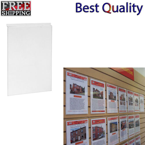 A4 ACRYLIC SLATWALL POSTER HOLDERS PERSPEX MENU SIGN DISPLAY FOR SLAT BOARD