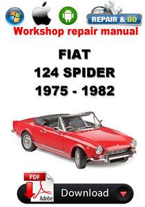 fiat 124 spider 1975 1982 workshop repair manual ebay rh ebay com 1981 Fiat Spider 2000 1979 fiat spider 2000 repair manual