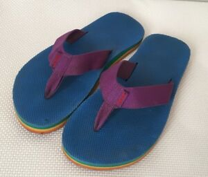 1e9db0981f7407 Image is loading Teva-Flip-Flop-5-Blue-Purple-Deckers
