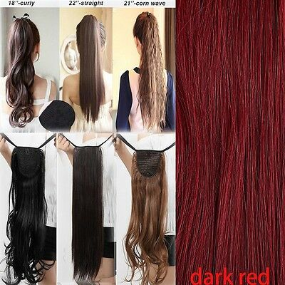 New fashion Tie up Clip In on Ponytail Hair Extensions Synthetic one piece UKGE