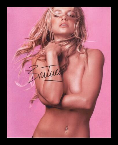 BRITNEY SPEARS AUTOGRAPHED SIGNED /& FRAMED PP POSTER PHOTO