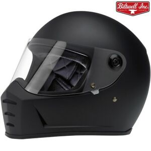 Biltwell Lane Splitter Full Face Motorcycle Helmet Flat Black Casque Bandit