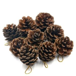 12pcs-Christmas-Pine-Cones-Baubles-Xmas-Tree-Party-Hanging-Decorations-Ornament