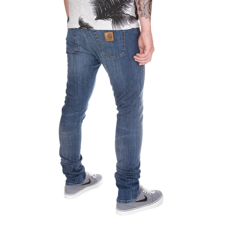 CARHARTT WIP Rebel Pant Dock WASH-Light blu Denim-Slim Fit Jeans per uomo