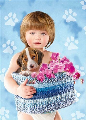 Clementoni  - Puzzle 500 Teile beagle Baby with the beagle Teile 409245