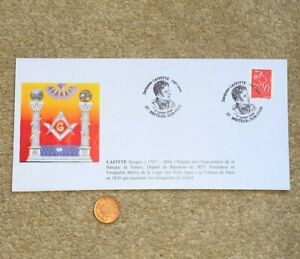 2006-FDC-Envelope-Masonic-French-Postage-Stamp-Jacques-Laffitte