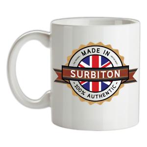 Made-in-Surbiton-Mug-Te-Caffe-Citta-Citta-Luogo-Casa